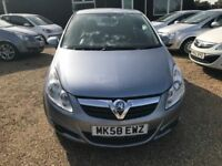 VAUXHALL CORSA 1.2 i 16v CLUB HATCH 3DR 2008(58)* IDEAL FIRST CAR * CHEAP INSURANCE* HPI CLEAR *