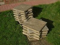 Used Paving Slabs - Approximately 45cm Square