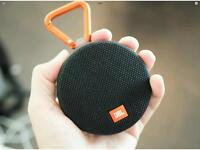 JBL Clip 2 Waterproof bluetooth speaker, brand new in box, blue or black available.