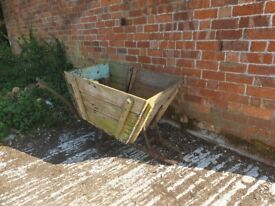 Old wooden barrow would make great planter