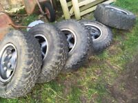 Land Rover rims and BF a/t tyres