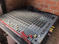 Soundcraft Spirit 16 Channel Mixing Console / Desk + Power Supply, Stand & Cables