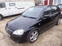 Vauxhall CORSA 1.8SRI 5 door Black, cruise control,