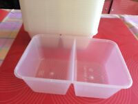 100 CLEAR PLASTIC FOOD CONTAINERS WITH LIDS