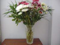 Lead cut glass Crystal beautiful flower vase