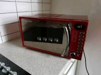 Russel Hobbs 17l red chrome 700w microwave oven