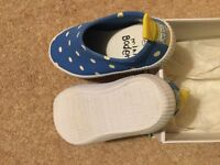 Mini Boden blue spotted sand shoes, worn once size 28