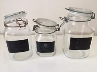 10 x Clip Top Glass Storage Jars for Sale