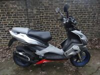 FAST 60MPH Aprillia SR50R 2 STROKE SPORTS Moped 50cc Scooter DERISTRICTED 1 Years Mot ELECTRIC START