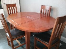 Morris Dining Table chairs and sideboard timeless quality in dark oak