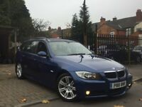 2006 BMW 320D M-SPORT ESTATE ** LE-MANS BLUE ** GENUINE WARRANTED LOW MILEAGE** 2 KEYS** BARGAIN ***