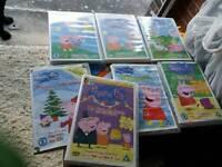 7 PEPPA PIG DVDS