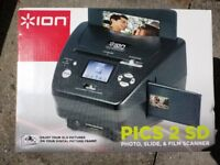 Ion Pics 2 SD Photo, Slide and Film Scanner - as new in box