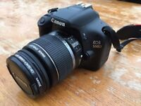 Canon EOS 550D / Rebel T2i 18.0MP Digital SLR Camera with EF-S IS 18-55mm Lens