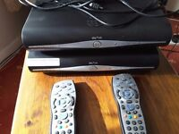 2 Sky+HD boxes remote controls power cables and one hdmi cable