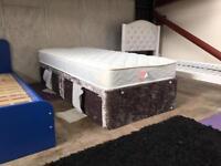Brand new Single crushed velvet and memory mattress