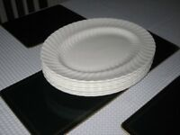 "Oval serving platters by Wedgwood bone china 14"" by 11"""