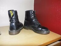 black doc martens air wair 8 eyelet size 7 decent condition