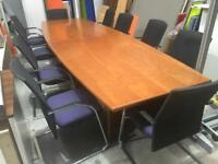 10 person boardroom table with chairs