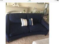 Gorgeous LAURA ASHLEY MIdnight Blue Sofa - Modern Classical Style