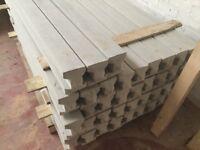Concrete fence post, fence panels