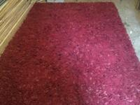 Red wool rug from John Lewis