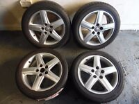 """17"""" ORIGINAL AUDI ALLOY WHEELS AND TYRES SET OF 4"""
