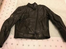 Frank Thomas Leather motorcycle jacket, ladies size 14