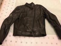 Frank Thomas Leather motorcycle jacket, ladies size 14