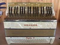 Hohner Regina VI, 4 Voice, Musette Tuned, 120 Bass, Piano Accordion.