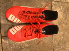 Puma football boots Evospeed. Size 5 great condition