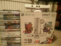 XBOX 360 kinect and 25 games