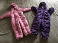 Baby snowsuits for sale - 9-12 months - 2 available