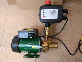 shower booster pump. stuart turner n30, negative head with pressure booster