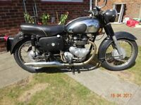 AJS Classic British Motorcycle 1959 500 Twin