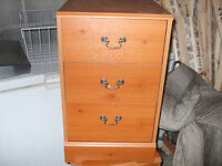 TWO MAHOGANY BEDSIDE CABINET (MATCHING) ALL GOOD USED IN SPARE ROOM ONLY