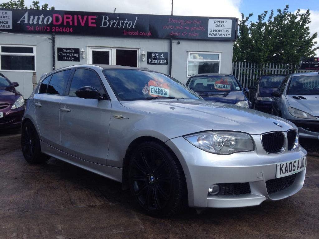 2005 bmw 1 series 116i m sport in silver black wheels and. Black Bedroom Furniture Sets. Home Design Ideas