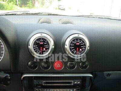 Audi  TT Ladedruckanzeige + Öltemperaturanzeige Schwarz fertig zum Einbau Digi