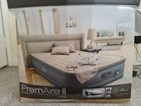 Intex Queen PremAire Raised Air Bed with built in pump