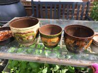 7x vintage plant pots incl w Germany