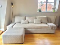 Habitat 'Kasha' three seat sofa and matching footstool.