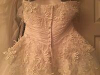 Tea length size 8 wedding dress