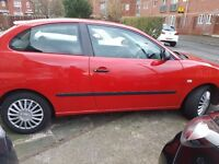 Seat ibiza petrol 1.2 reduced for quick sale.