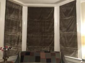Beautiful handmade grey velvet blinds