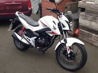 Honda CB125F White (1 owner, very low mileage)