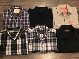 Bundle Selection of stylish shirts M abercrombie zara