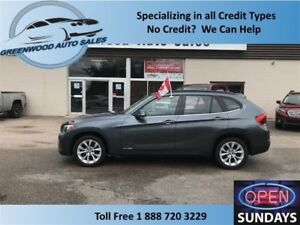 2014 BMW X1 AWD! LEATHER! PANO ROOF! FINANCE NOW!