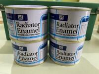 paint tins ALL NEW 4 x tins for £8 Radiator white