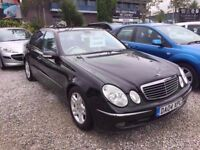 04 MERCEDES E320 CDI ADVANTGARDE AUTO 3.2 DIESEL IN BLACK *PX WELCOME* MOT TILLJUNE 2018 £2300