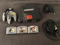 Nintendo 64 + games golden eye